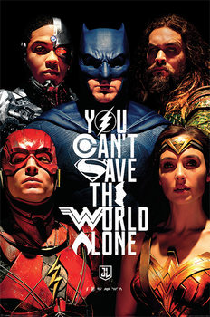 Póster  Justice League Movie - Save The World)