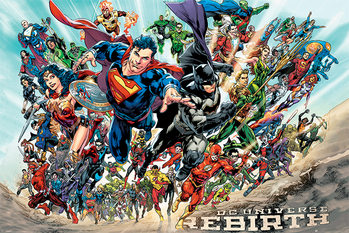 Póster  Justice League - Rebirth