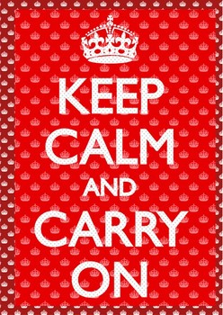 3D Poster Keep calm and carry on