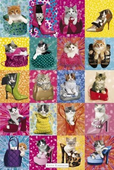 Keith Kimberlin – cat collage Poster