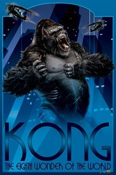 Póster KING KONG - art deco