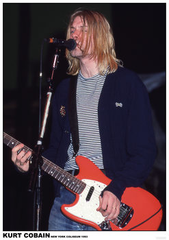 Póster  Kurt Cobain / Nirvana - New York Coliseum 1993