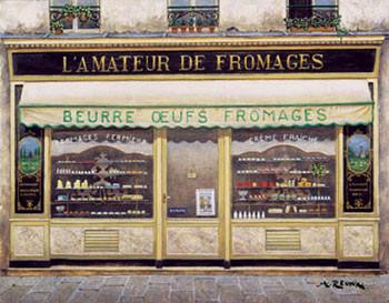 L'Amateur De Fromages Kunstdruk