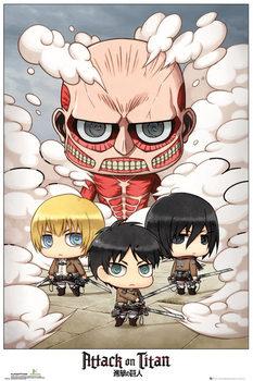 Poster L'attacco dei Giganti (Shingeki no kyojin) - Chibi Group