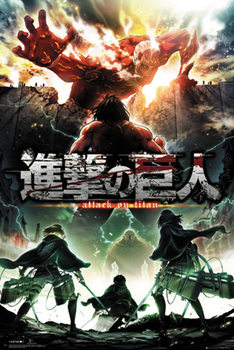 Poster L'attacco dei Giganti (Shingeki no kyojin) - Key Art