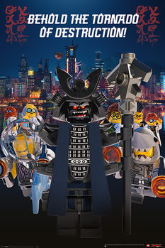 Póster La Lego Ninjago película - Garmadon Destruction