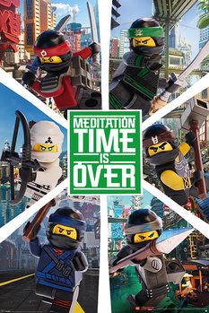 Póster  La Lego Ninjago película - Six Ninjas