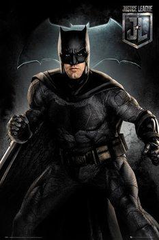 Póster  La Liga de la Justicia- Batman Solo