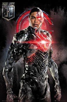 Póster La Liga de la Justicia- Cyborg Solo