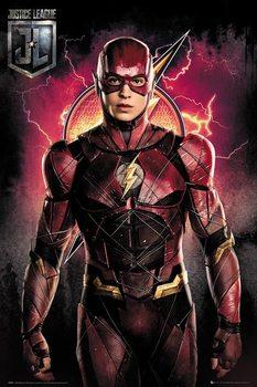 Póster  La Liga de la Justicia- Flash Solo