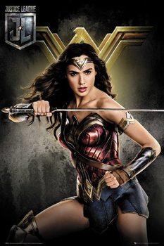 Póster  La Liga de la Justicia- Wonder Woman