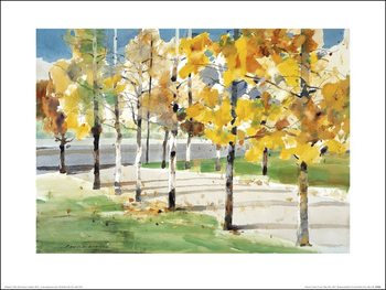 Law Wai Hin - Autumn Trees Kunstdruk