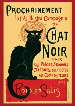 Le Chat noir - steinlein poster, Immagini, Foto