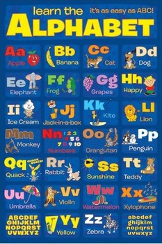 Poster LEARN THE ALPHABET