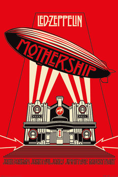 Póster  Led Zeppelin - Mothership Red
