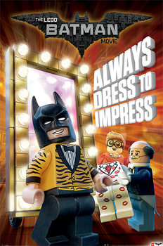 Póster Lego Batman - Always Dress To Impress
