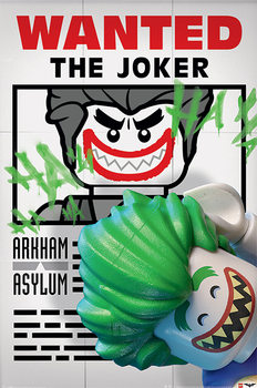 Póster Lego Batman - Wanted The Joker