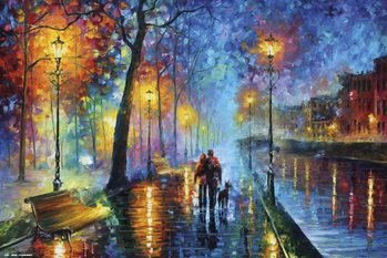 Leonid Afremov - Romantic Couple Poster