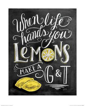 Lily & Val - Lemons Kunstdruk