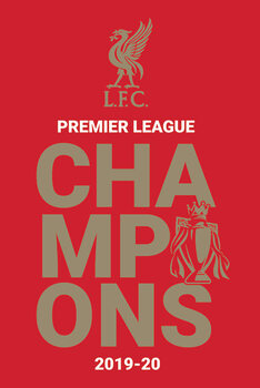 Póster Liverpool FC - Champions 2019/20 Logo