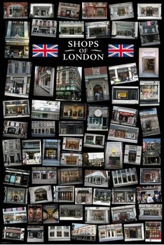 Londen - Shops of London Poster