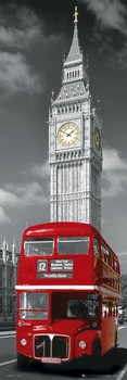 Poster London - big ben & bus