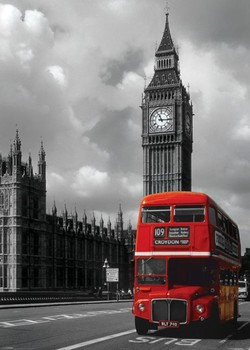 Póster Londres - red bus