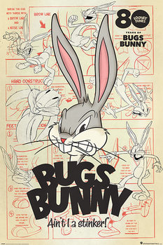 Póster Looney Tunes - Bugs Bunny Aint I a Stinker