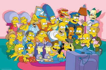 Póster Los Simpson - Couch Cast