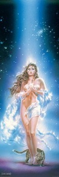 Poster Luis Royo - woman & cat