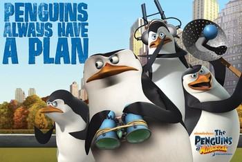 Madagascar - penguins Poster