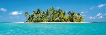 Poster Maledives – island