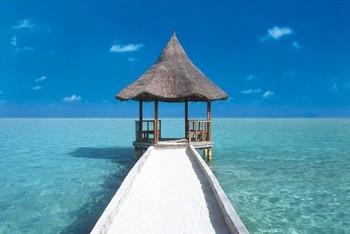 Poster Maledives pier
