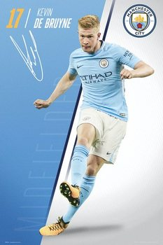 Poster Manchester City - De Bruyne 17/18