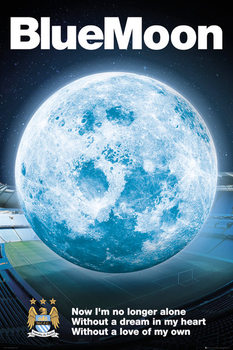 Póster  Manchester City FC - Blue Moon 14/15
