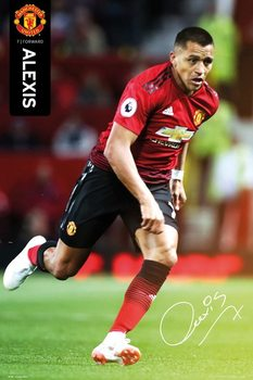 Póster  Manchester United - Alexis 18-19