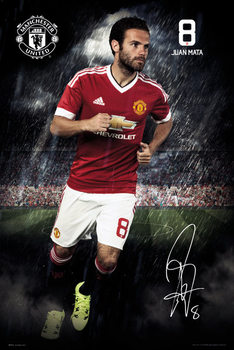 Póster Manchester United FC - Mata 15/16