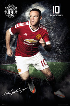 Poster Manchester United FC - Rooney 15/16