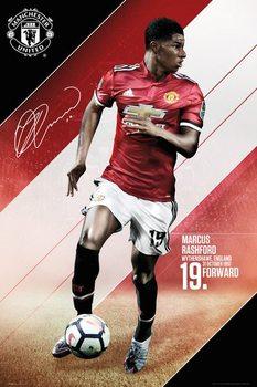 Póster  Manchester United - Rashford 17-18