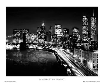 Poster Manhattan - night