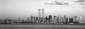 Poster Manhattan sky - black and white