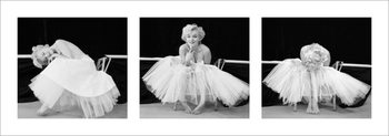Marilyn Monroe - Ballerina Triptych Kunstdruk