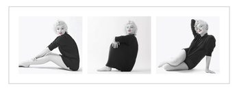 Marilyn Monroe - Sweater Triptych Poster / Kunst Poster