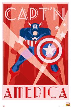 Póster  Marvel - Retro Captán América
