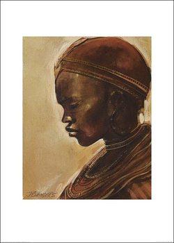 Masai woman II. Kunstdruk