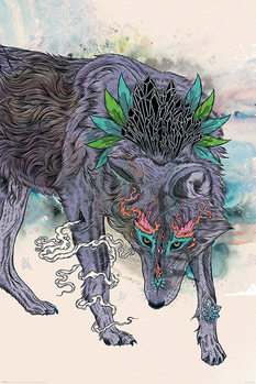 Póster Mat Miller - Journeying Spirit - Wolf