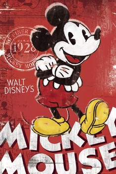 Poster  MICKEY MOUSE - rot
