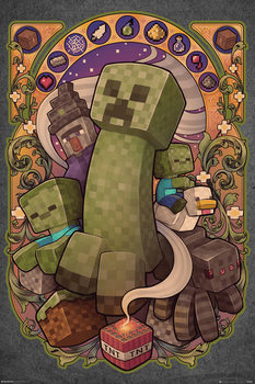 Póster  Minecraft - Creeper Nouveau