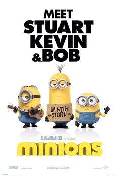 Minions (Verschrikkelijke Ikke) - I'm with stupid Poster