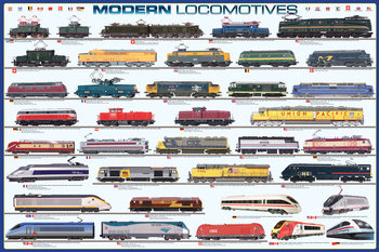 Póster  Modern locomotives